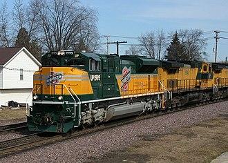Union Pacific heritage fleet - Image: UP 1995, Rochelle, 2007 03 11