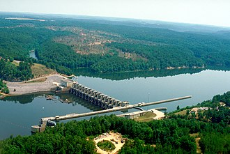 Black Warrior River - Image: USACE Holt Lock and Dam Alabama
