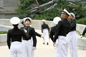 Exhibition drill - A rifle drill team performance at the United States Naval Academy
