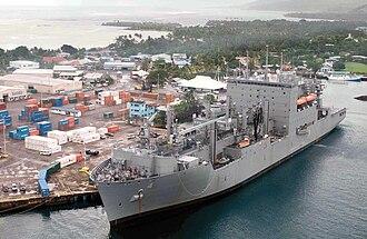 Upolu - Image: USNS Richard E. Byrd sits pierside in Upolu Samoa