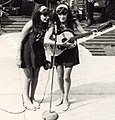 USO Show Vietnam 1968 - Twins Sing to Troops on Barge (cropped).jpeg