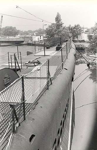 New Jersey Naval Museum - The USS Ling in Hackensack in 1975