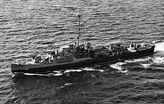 USS <i>Eugene E. Elmore</i> (DE-686) American Rudderow-class destroyer escort