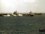 USS Hancock (CV-19) and USS Wasp (CV-18) at Ulithi in March 1945.jpg
