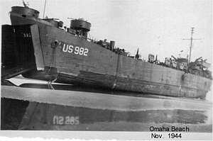 USS LST-982 Omaha Beach November 1944.jpg