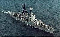USS Mitscher (DDG-35) underway at sea in the 1970s.jpg