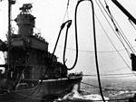 USS Russell (DD-414) being refueled c1943 (bridge detail).JPG