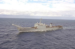 USS Spartanburg County (LST-1192) port bow view.jpg