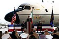 US Navy 040413-N-5821W-001 Adm. Gregory G. Johnson, Commander, U.S. Naval Forces Europe, addresses a crowd gathered in Naval Air Station (NAS) Sigonella's Executive Transport Department (ETD) hangar.jpg