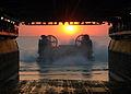 US Navy 060424-N-3557N-083 A Landing Craft Air Cushion (LCAC) prepares to enter the well deck of amphibious assault ship, USS Kearsarge (LHD 3).jpg