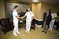 US Navy 070929-N-0696M-048 With a handshake Adm. Mike Mullen, left, passes all duties and responsibilities as the Chief of Naval Operations (CNO) to Adm. Gary Roughead.jpg