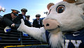 US Navy 071201-N-4308O-004 Navy mascot Bill the Goat gives a.jpg