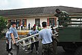 US Navy 080122-N-8933S-464 Africa Partnership Station (APS) Sailors and Sao Tomeain military personnel move hospital beds from a landing craft utility to a local hospital designated from Project Handclasp.jpg