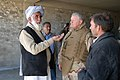 US Navy 081222-N-0000X-379 Deputy Governor of Khost Province Taiwar Khan Subarai and Gary Roughead discuss the construction of the Provincial Government Center. Chief of Naval Operations.jpg