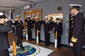 US Navy 090203-N-1113S-001 Vice Adm. Tohru Izumi, commander-in-chief of the Japan Self-Defense Fleet is greeted by Vice Adm. John M. Bird, Commander, U.S. 7th Fleet.jpg