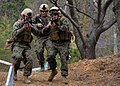 US Navy 090309-N-9573A-002 Marines from the Fleet Anti-terrorism Security Team Pacific (FASTPAC), home ported in Norfolk, Va., charge downhill to defend against a simulated perimeter breech.jpg