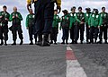 US Navy 091107-N-6710M-017 Sailors aboard the aircraft carrier USS Harry S. Truman (CVN 75) conduct foreign object and debris walk down after completing flight deck drills during general quarters training.jpg