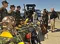 US Navy 100429-N-8273J-111 Chief of Naval Operations (CNO) Adm. Gary Roughead speaks with Sailors at a static display of Navy Expeditionary Combat Command diving equipment.jpg