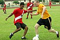 US Navy 100616-N-1841C-045 Sailors assigned to the Peruvian navy submarine BAP Angamos (SS-31) play soccer against Sailors assigned to the ballistic-missile submarine USS Wyoming (SSBN 742) at Naval Submarine Base Kings Bay.jpg