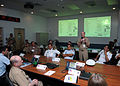 US Navy 100617-N-6764G-004 Capt. Kevin Hill addresses international partners attending a PANAMAX 2010 planning exercise at U.S. 2nd Fleet maritime headquarters.jpg