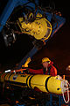 US Navy 100914-N-1038B-002 Surveyors secure an autonomous underwater vehicle aboard USS Henson.jpg