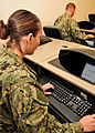 US Navy 120208-N-AW868-016 Seabees at Naval Construction Battalion Center Gulfport, Miss. complete a Navy computer adaptive personality scales que.jpg