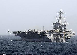 US Navy 120213-N-WD757-055 An aircraft launches from the flight deck of the Nimitz-class aircraft carrier USS Carl Vinson (CVN 70).jpg