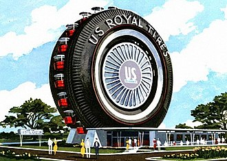 Uniroyal Giant Tire - The US Royal Giant Tire Ferris Wheel at the 1964 New York World's Fair