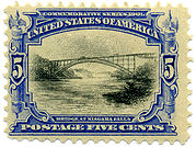 Bridge at Niagara Falls, 8¢