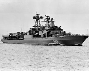 БПК «Удалой» в Антлантике, 26 октября 1983 года.
