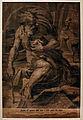 Ugo da carpi, diogene (da parmigianino), xilografia a quattro legni, 1527.JPG