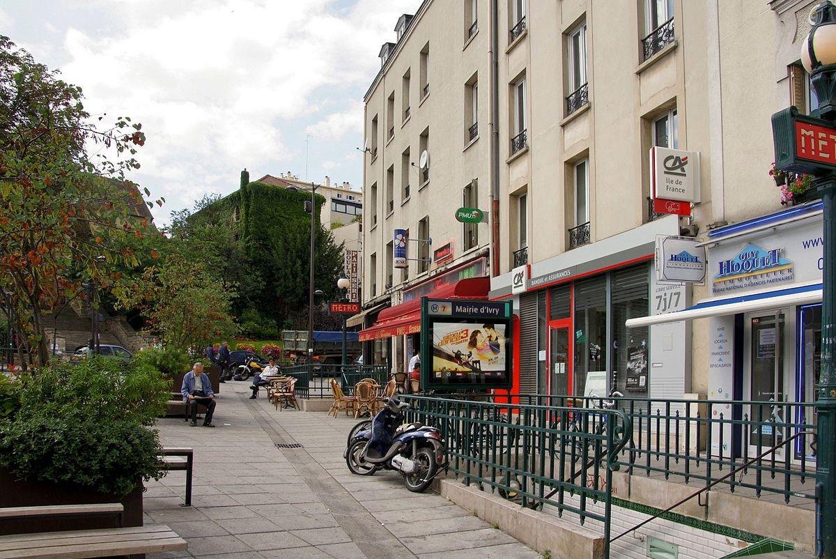 Mairie d 39 ivry paris metro wikipedia - Metro porte d ivry ...