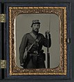 Unidentified soldier in Company H, Vermont uniform with bayoneted musket LCCN2011648542.jpg