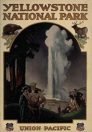 Union Pacific Railroad Brochure on Yellowstone...