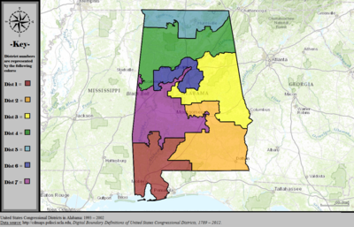 United States Congressional Districts in Alabama, 1993 – 2002.tif