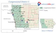 United States House of Representatives, Iowa District 5 map.png