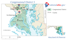 United States House of Representatives, Maryland District 5 map.png