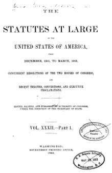 United States Statutes at Large Volume 32 Part 1.djvu