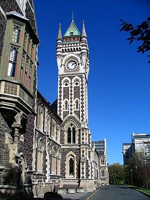 English: University of Otago Registry Building...