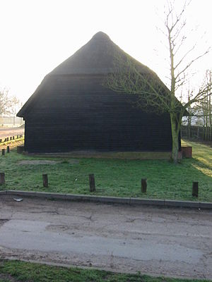 Upminster Tithe Barn Museum of Nostalgia - Image: Upminster tithe barn west