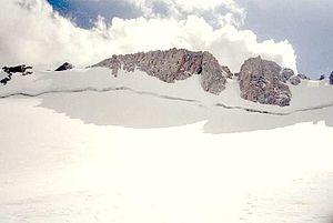 Fremont Peak (Wyoming) - Upper Fremont Glacier on the north slope of Fremont Peak