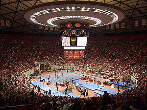 Jon M. Huntsman Center - Red Rocks gymnastics meet in 2008