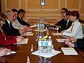 Välisminister Keit Pentus-Rosimannus UNESCO peadirektori Irina Bokovaga (17134388279).jpg