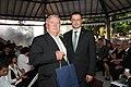 V.Dombrovskis un Brazīlijas latviešu biedrības vadītājs Ralfs Kļaviņš (5925476832).jpg