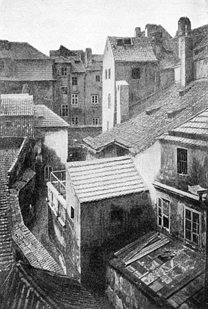 Jewish quarter (diaspora) - The Josefov of Prague, which was demolished between 1893 and 1913.