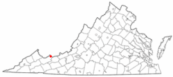 Location of Pocahontas, Virginia