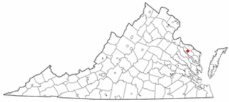 Warsaw, Virginia - Image: VA Map doton Warsaw