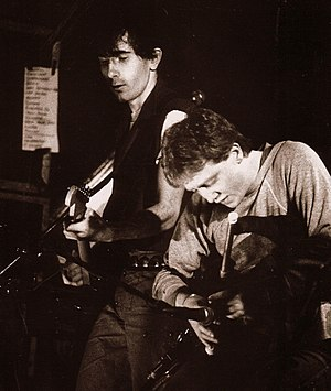 """Vinnie Kilduff - Vinnie performing with U2 """"War Tour"""" 1983 RDS Dublin"""