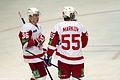 Vadim Berdnikov and Danny Markov 2011-10-11 Amur—Vitiaz Chekhov KHL-game.jpeg