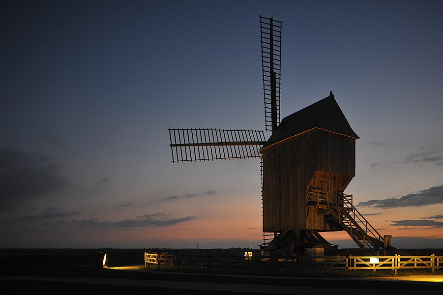 Windmill of Valmy; Marne, France.
